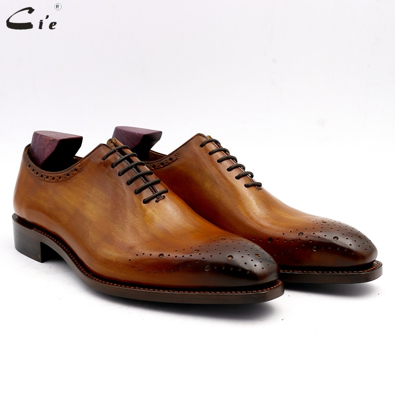 Cie Goodyear Welted رجالي أحذية الزفاف الحبوب الكاملة جلد العجل الرسمي مكتب الأعمال اليدوية أحذية للرجال no.13