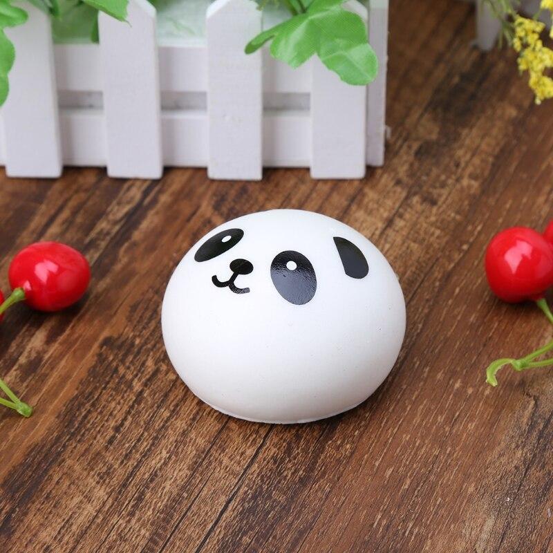 Сжимаемый Panda Bun мяч для снятия напряжения, медленно восстанавливает форму, детские игрушки