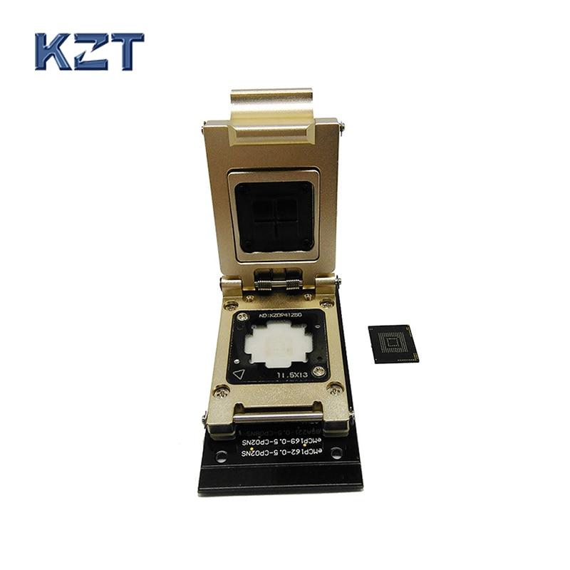 مقبس اختبار eMMC إلى واجهة SD ، Nand flash pogo ، BGA153/169 ، قارئ ، مقاس 12 × 16 مللي متر ، مسار 0.5 مللي متر ، استعادة تاريخ الهاتف الذكي
