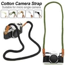 Appareil photo universel élégant coton bande sangle cou épaule portant 75/100cm ceinture générale pour Leica Canon Nikon appareil photo numérique
