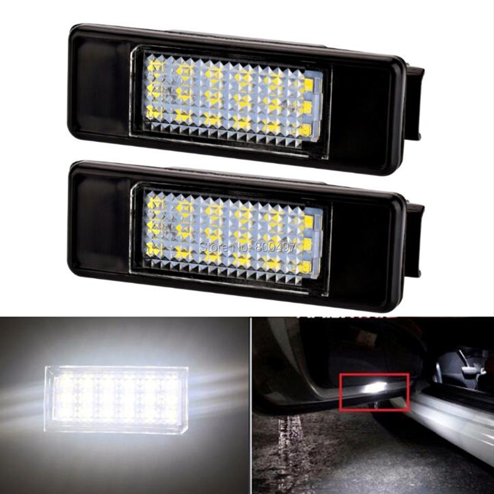 2 x LED Car LED License Plate Lamps for Peugeot 106 1007 207 307 308 3008 406 407 508 RCZ Expert For FCitroen C2 C3 C4 C5 C6 DS3