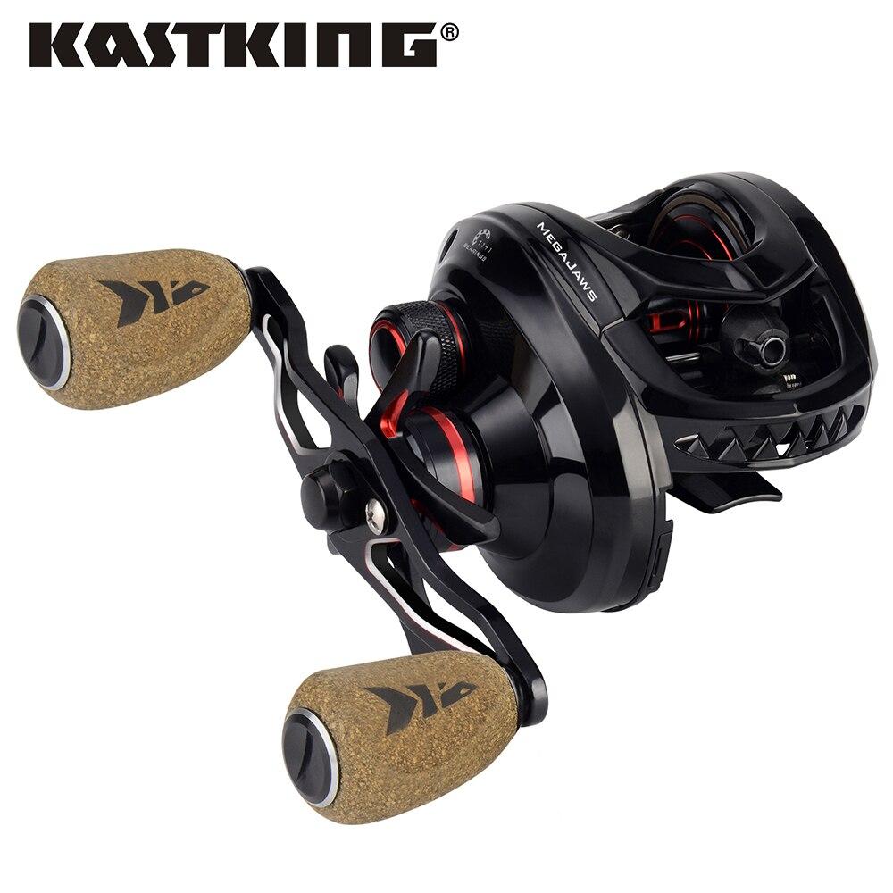 Carrete para carnada KastKing megashaws Baitcasting, engranaje con código de Color, Ratio de carnada suave, carrete de pesca de fundición, arrastre de 8KG para Pesca de lubina