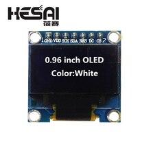 Module daffichage blanc OLED 0.96X64 128 pouces OLED SPI 7pin puce pilote SSD1306 pour kit de bricolage arduino