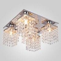 TomDa-Surface Mounted Ceiling Light Crystal Modern 5 Lights