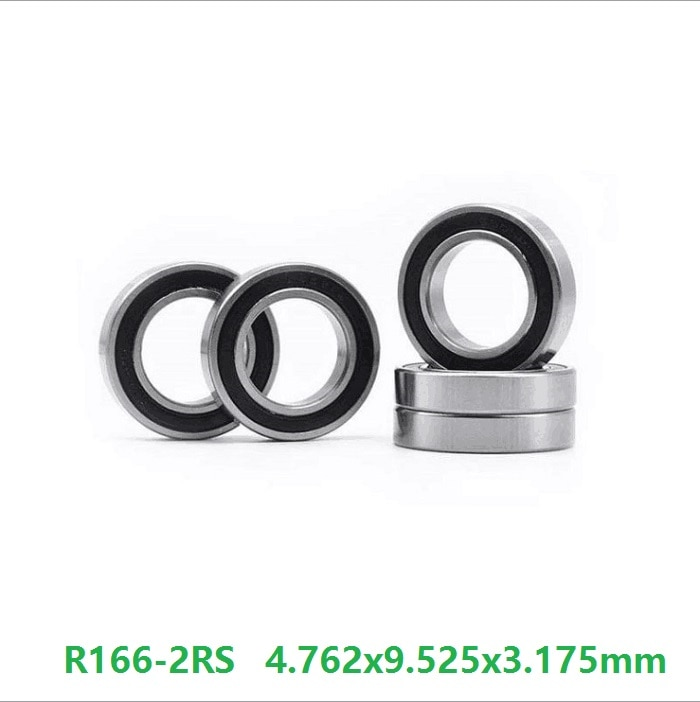 """200 pçs/lote R166-2RS R166RS R166 RS 3/16 """"x 3/8"""" x 1/8 """"polegada selado rolamento de Esferas Profundo do sulco mini rolamento 4.762x9.525x3.175mm"""