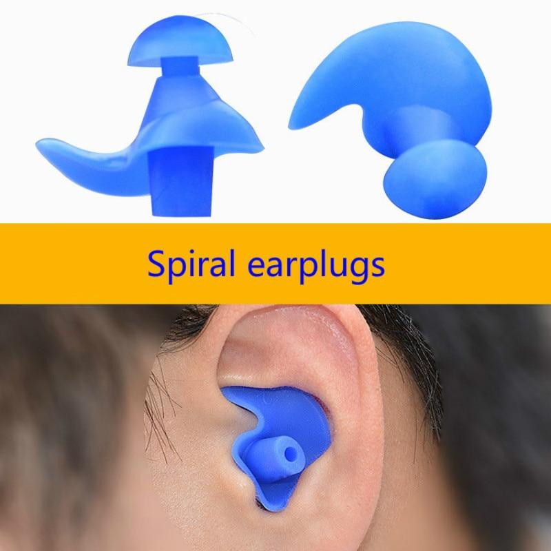 1 Pair Soft Ear Plugs Environmental Silicone Waterproof Dust-Proof Earplugs Diving Water Sports Swim