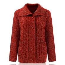 2020 personnes âgées épaississant pull chaud, vêtements pour femmes, automne hiver pull tricoté, cardigan, manteau de grand-mère.