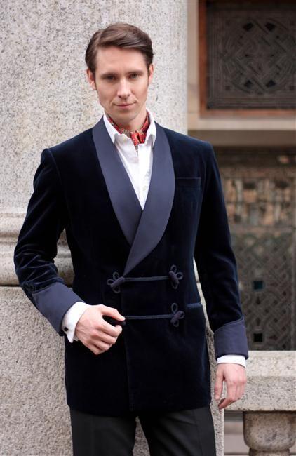 2017 Latest Coat Pant Designs Navy Blue Velvet Smoking Men Suit Slim Fit 2 Piece Groom Tuxedo Custom Suits Prom Blazer Masculino
