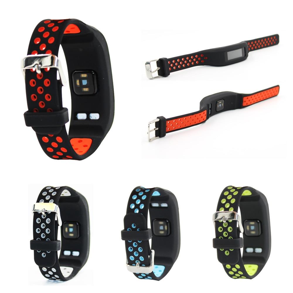 Pasek z miękkiego silikonu dla Garmin Vivosmart HR inteligentna opaska Sport zegarek zapasowy pasek na nadgarstek bransoletka dla Vivosmart HR akcesoria