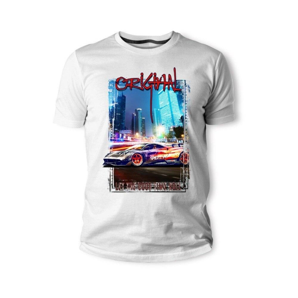 Camiseta italiana Classic Legend Car Huyara Speedhunters Blau Rot Auto 2019 ropa de hombre de marca de verano para hombre con estampado