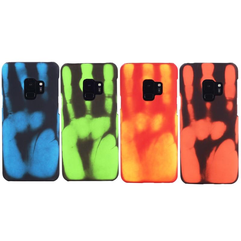 Термочувствительный чехол для Samsung S20 Ultra S8 S9 S10 Plus Note 10 Plus 9 8 A70 A50 A71 A51 A91 S7 Edge