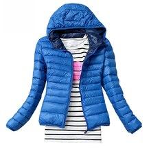Neue Winter Jacke Frauen Oberbekleidung Schlank Mit Kapuze Unten Jacke Frau Warme Mantel padded
