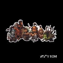 Светоотражающая наклейка Aliauto World of Warcraft для Ford Focus, BMW, Honda, Volkswagen, Polo, Skoda, Golf, Opel