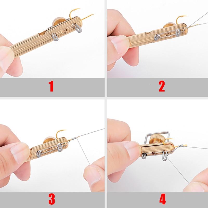 Haczyk wędkarski poziom dwugłowy igły węzłów Tie Loop Tyer Tools Kit żyłka Knotter wiązanie haczyk wędkarski igły narzędzie połowowe