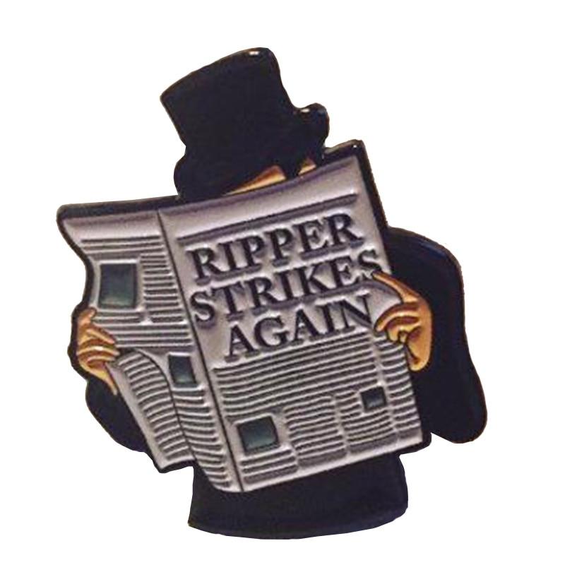Эмалированный штифт Jack the Ripper
