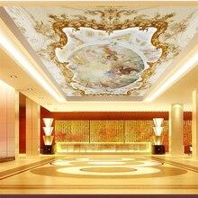 wellyu Custom Wallpaper 3d Stereo Mural Angel Myth Scene European Relief Zenith Ceiling Fresco wallpaper papel de parede 3d обои