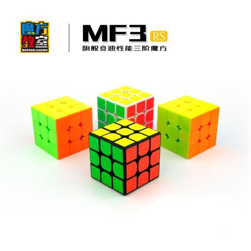 D-fantix Mofangjiaoshi MF3RS Cubo de velocidad 3x3x3 suave giro cubo mágico rompecabezas pegatina/Stickerless Speedcube juguetes regalo