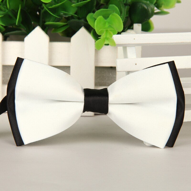 SHENNAIWEI 2016 pajaritas de alta calidad nuevos hombres blanco y negro mariposa moño de moda lote