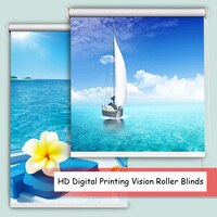 HD Digital Printing Vision Roller Blinds DIY Custom Made Full Shading Half Shading Fabric Natural Scenery Series Roller Shades