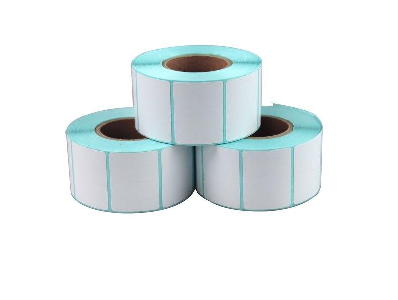 15 لفة ورق ملصقات حرارية ، طابعة حرارية 30 × 20 مم ، ملصقات باركود فارغة مقاومة للماء (إجمالي 12000 ملصق)