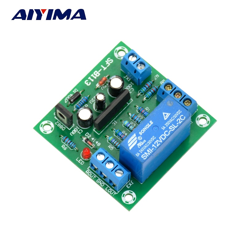 Aiyima upc1237 placa de proteção de alto-falante duplo canal power-on atraso dc proteger módulo 11-26 v para amplificador de áudio amp diy