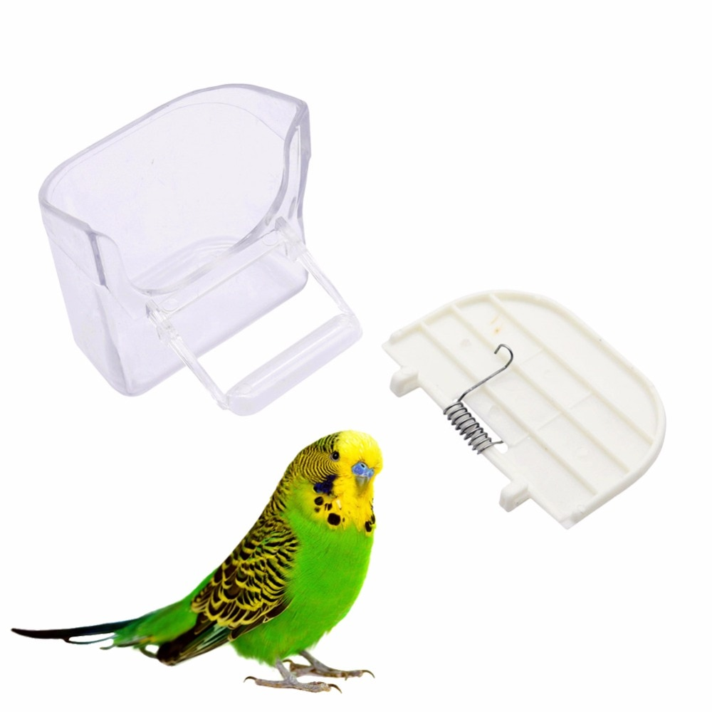 4 Uds suministro de aves hibisco Jin-green Tiger Parrot Prevención de salpicaduras cuenco de alimentos evitar salpicaduras contenedores de alimentos alimentador de aves
