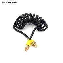Tuyau flexible à distance haute pression tuyau télescopique spécial en Nylon Air Hose150cm 63Mpa/9100psi M10 * 1 x M10 * 1 filetage mâle HE150