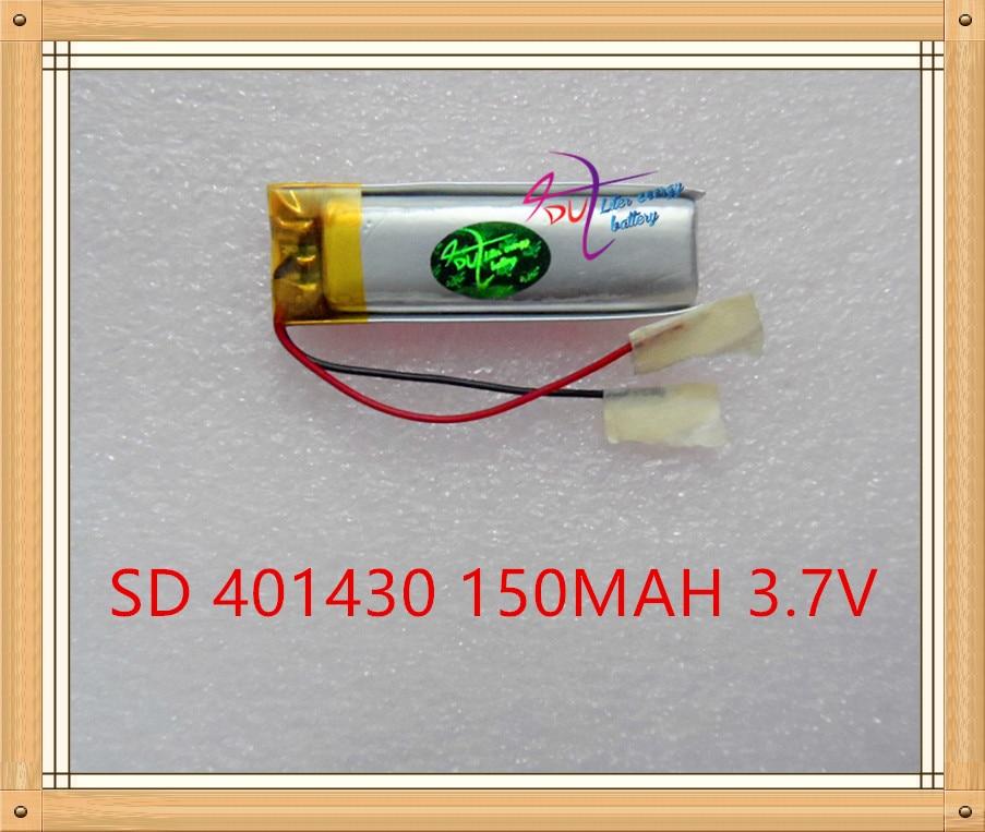 Suministro de 401430 de 3,7 V 150MAH pulsera inteligente batería de polímero