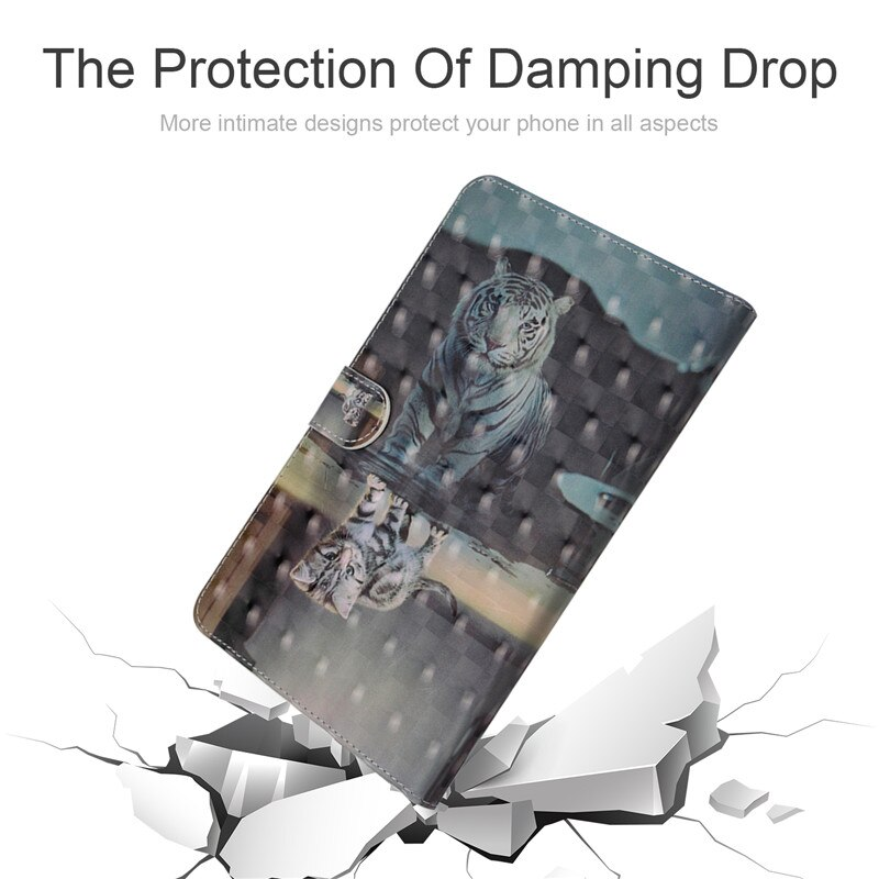 Купить с кэшбэком Wekays Case For Samsung Galaxy Tab S3 9.7 inch T825 SM-T820 3D Cartoon PU Leather Cover Back Protective Case Tablet Cover Capa
