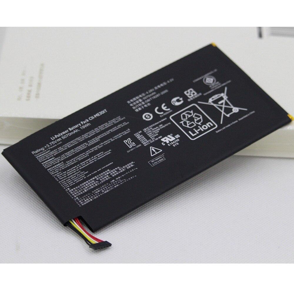 """10 unids/lote 5070mah Tab batería para ASUS Memo Pad Smart K001 10,1 """"C11-ME301T C11 ME301T Tablet batería de repuesto interna"""