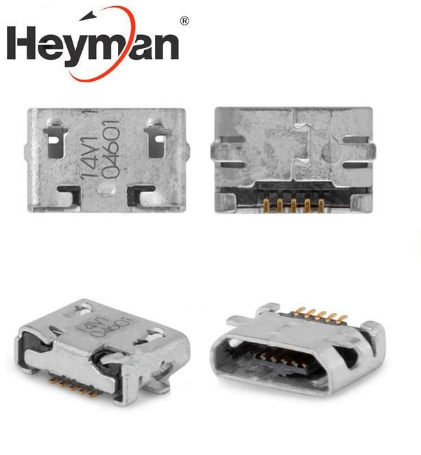 Heyman Charge Connector for Nokia 207, 208, 220, 230,500,503 Asha Dual Sim, 710 Lumia (5 pin, micro USB type-B)