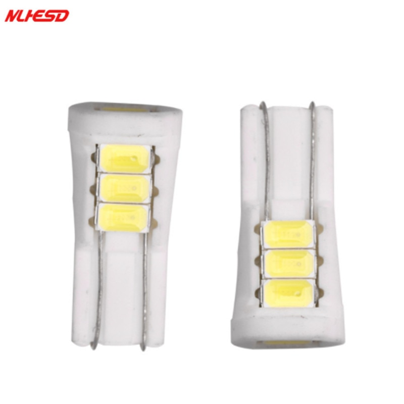 10 шт./лот T10 8SMD 5 Вт 5630 192 168 194 W5W супер белый LED керамический свет клиновидная лампа Автомобильный источник света DC12V автомобильный stlying