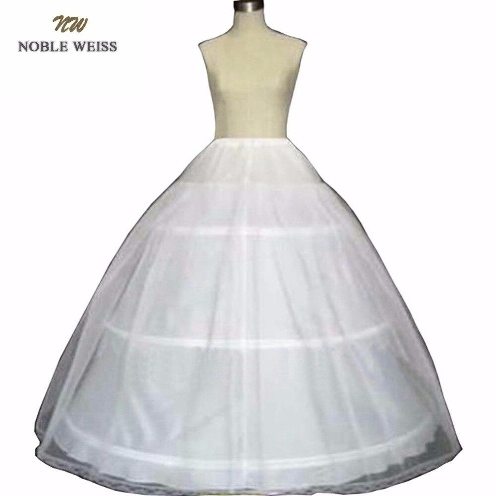 noble-weiss-Новый-3-обруч-Белый-подъюбник-Кринолин-Нижняя-юбка-для-невесты-свадебное-платье