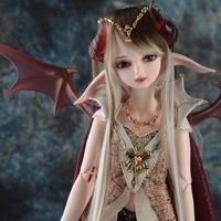 14 scale nude bjd with face up human or elf msd joint doll resin model toynot include clothesshoeswig and other d2170