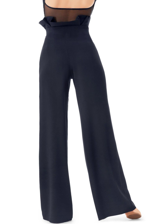 Pantalones de baile sexis negros para baile cuadrado, pantalón para baile de salón, vestido de baile Cha, pantalones de baile modernos para mujer