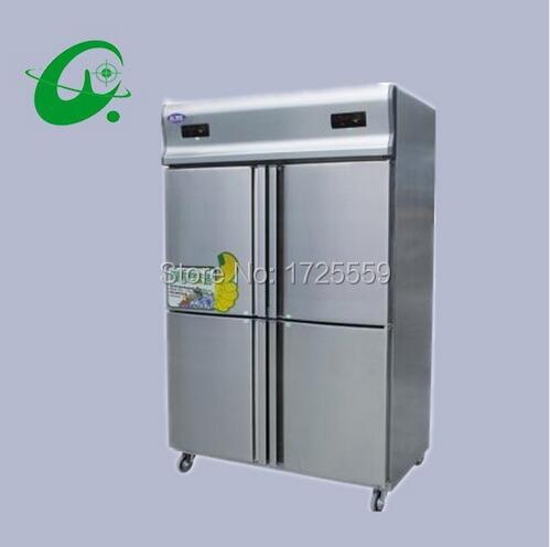 Refrigerador de refrigeración de una sola temperatura comercial con cuatro compartimentos de almacenamiento de código de cocina chinos