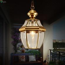 Europe Retro Lustre Copper Led Pendant Chandelier Lamp Glass Corridor Led Chandeliers Lighting Luminarias Hanging Lights Fixture