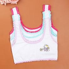 High Quality cartoon Design Girl Vest Children Bra Cotton Bra Training Bras In timates Comfortable U