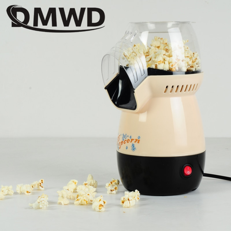DMWD الكهربائية لتقوم بها بنفسك صغيرة الهواء الساخن آلة صنع الفشار بوبر ماكينة الفشار أجهزة مطبخ المنزلية آلة