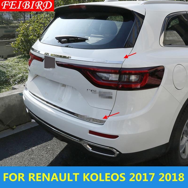 Parte trasera detrás del maletero puerta trasera tapa inferior Streamer moldura cubierta Kit embellecedor accesorios para Renault Koleos 2017 2018