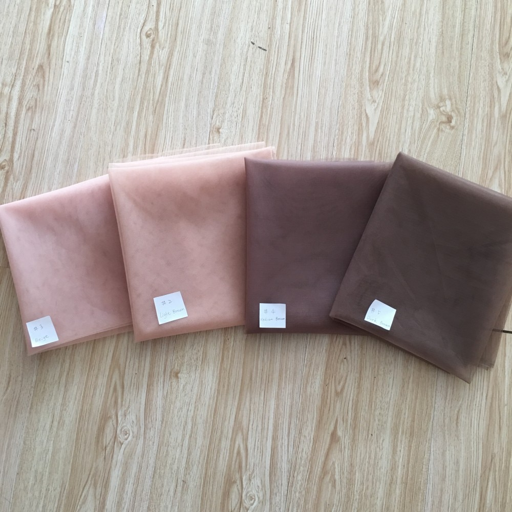 10 Yards/lot Dark/Meduim/Light Brown Beige Hairnets Premium Swiss France Lace for Wig Caps Toupee Closures DIY Free Shipping