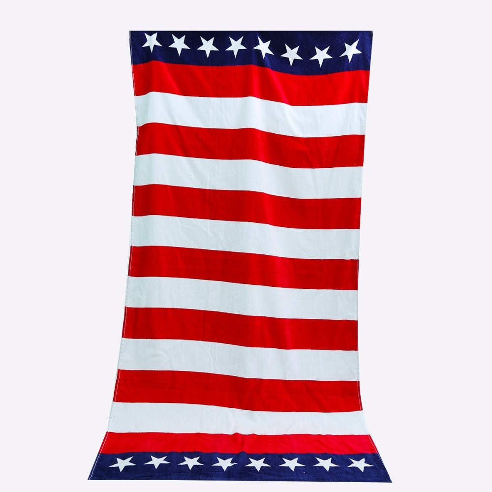 Beach Towel Cotton USA Flag Design Bath Towels For Adults Toalla