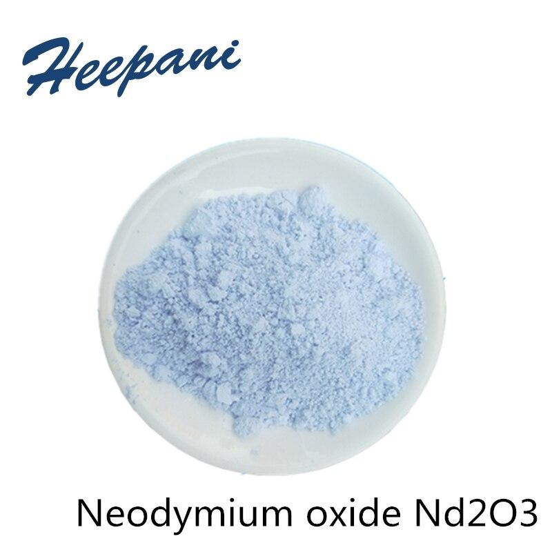 Бесплатная доставка Чистый 99.9% оксид неодима Nd2O3 порошок редкоземельный материал для сплава, керамических материалов и стекла