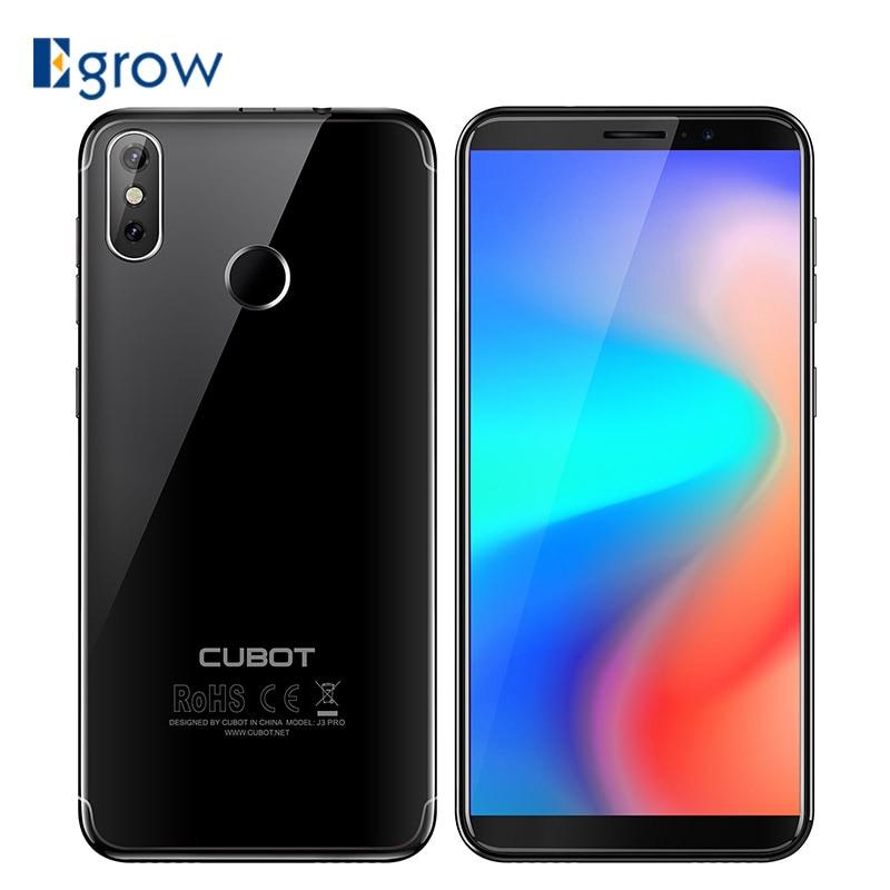 Cubot J3 Pro Android A LAS 18:9 la pantalla 1GB 16GB 5,5 pulgadas MT6739 Quad-Core Smartphone 13MP + 2MP cámaras traseras duales 2800mAh 4G LTE