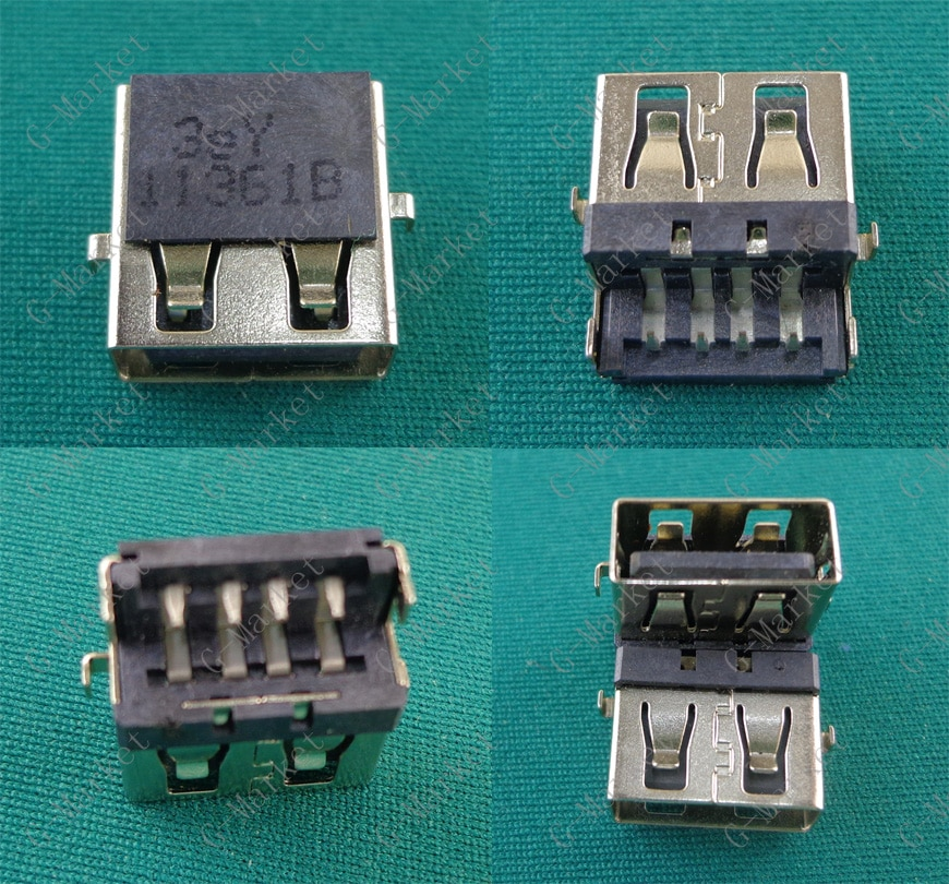 Conector hembra USB Jack para nuevo Asus HP Lenovo Samsung 2,0 interfaz USB K46 E46 E46A E46G E531 Y460