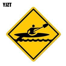 YJZT 12.7CM * 12.7CM Kayak traversant Kayak PVC moto voiture autocollant 11-00358