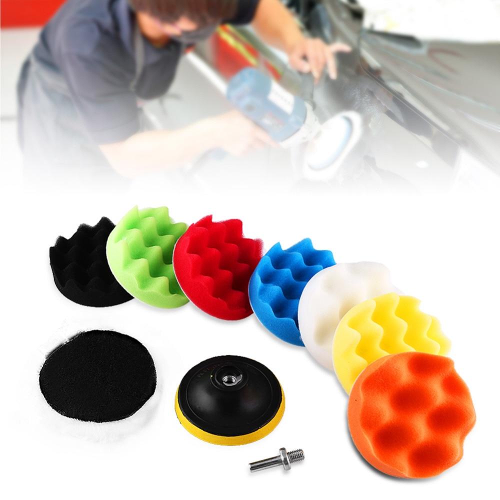 "10Pcs Car Polishing Pad set Polishing Buffer Waxing Buffing Pad Drill Kit Car Polishing sponge Wheel Kit polisher 3"" 4"" 5"" 6"" 7"""