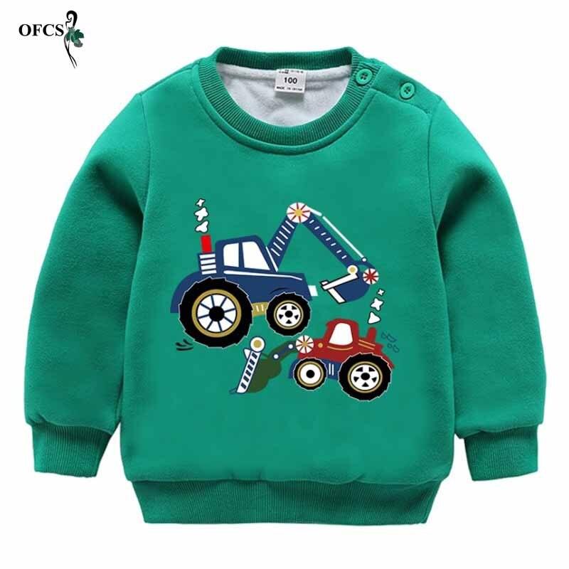 Meninos Moda T-shirt Roupa Dos Miúdos Do Bebê inverno manter aquecido 2-8Year sweatershirt tops de Lã capuz camisola roupas de primavera das Crianças