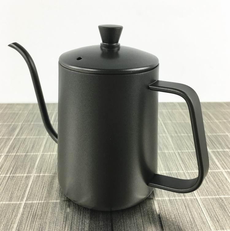 600 مللي الفولاذ المقاوم للصدأ القهوة غلاية إبريق الشاي القهوة غلاية مع مقبض نمط V60 الشاي و القهوة بالتنقيط غلاية