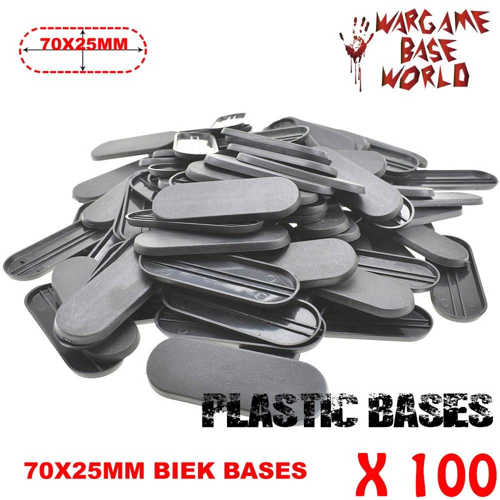 100 шт 70х25мм овальная система для велосипеда база от Bitz world пластиковые basesTable игры биты для wargames